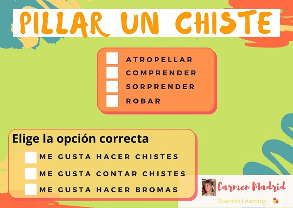 PILLAR UN CHISTE, CHISTE Y BROMA