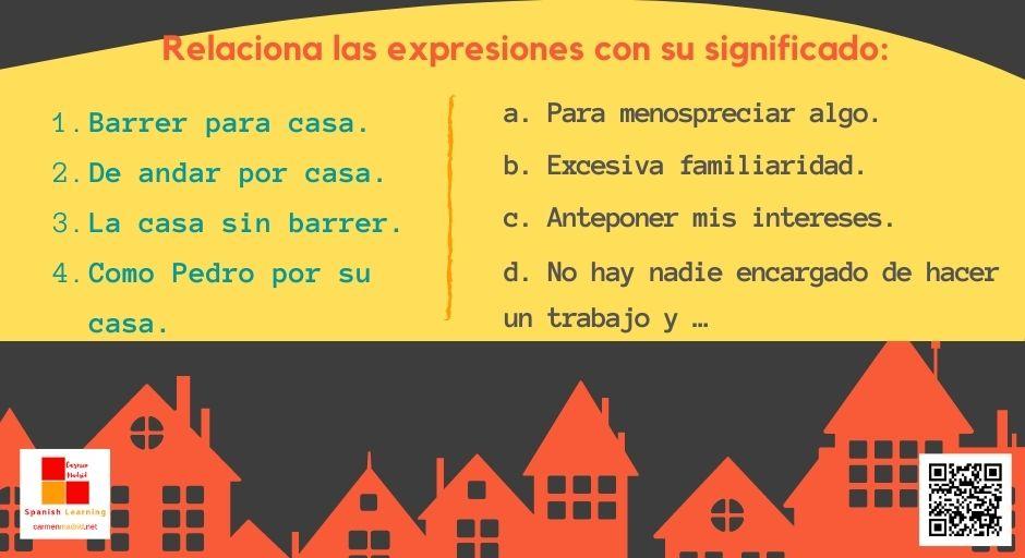 """Expresiones en español con la palabra """"casa"""": COMO PEDRO POR SU CASA"""
