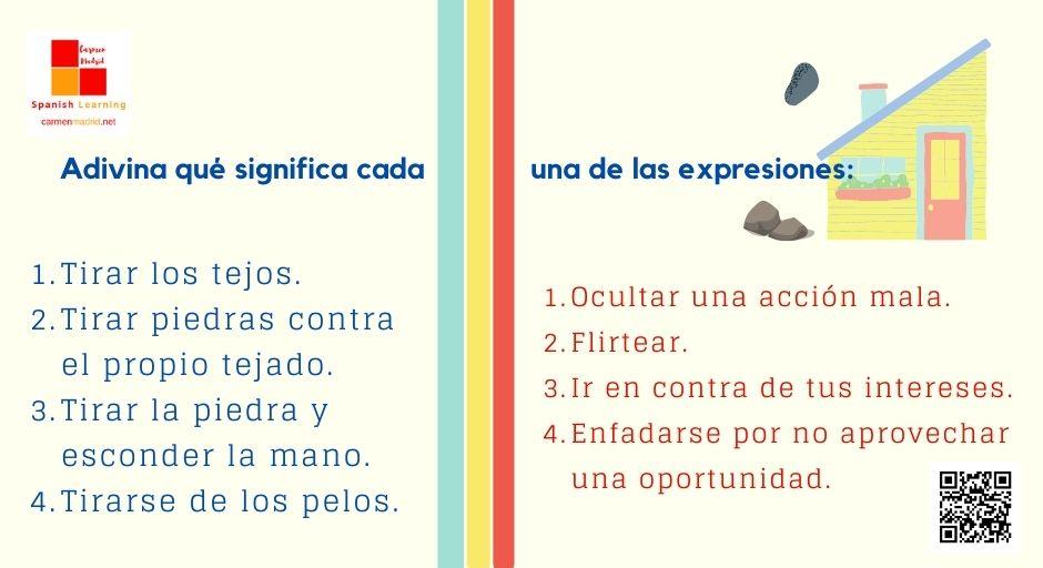 6 expresiones con el verbo TIRAR