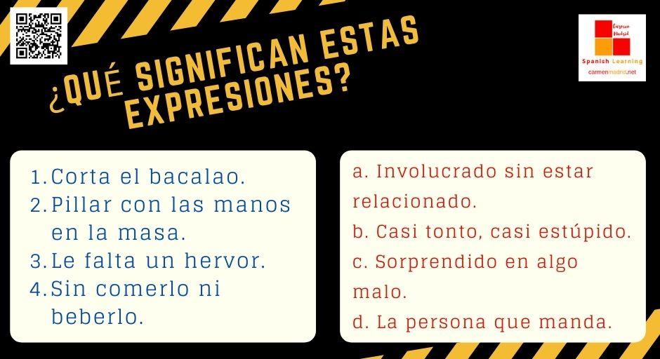 """Expresiones para el DELE """"CORTAR EL BACALAO"""""""