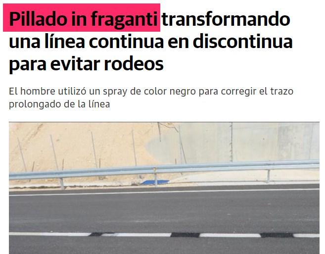 Expresión en español PILLAR IN FRAGANTI