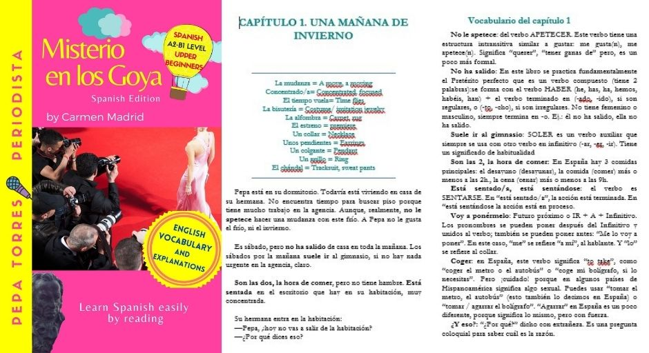 MISTERIO EN MADRID by Carmen Madrid, for students of Spanish beginners